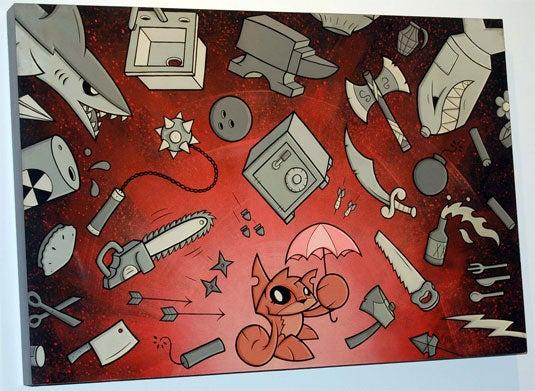 """Image of Joe LedBetter """"Toast #2"""" print on wood"""
