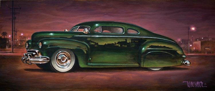 Image of Keith Weesner 'Emerald Teardrop' original art