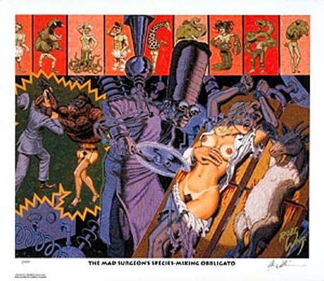 "Image of Robert Williams ""The Mad Surgeon's Species..."" signed lithograph"