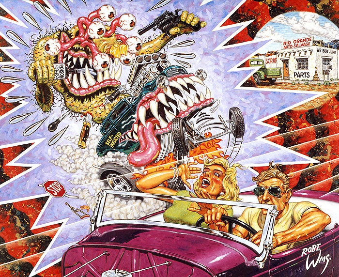 Image of Robert Williams 'Snuff Fink' silk screen print