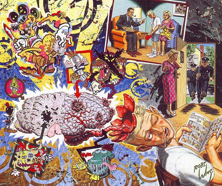 Image of Robert Williams 'The Cartoon Disease' signed lithograph