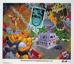Image of Robert Williams 'Exploration of the Subconscious...' lithograph signed