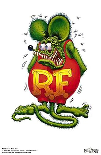 "Image of Ed ""Big Daddy"" Roth 'Rat Fink The Poster' signed Lithograph"