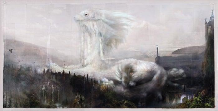 Image of Chris Berens 'Luck Dragon's Sanctum (2015)' original art