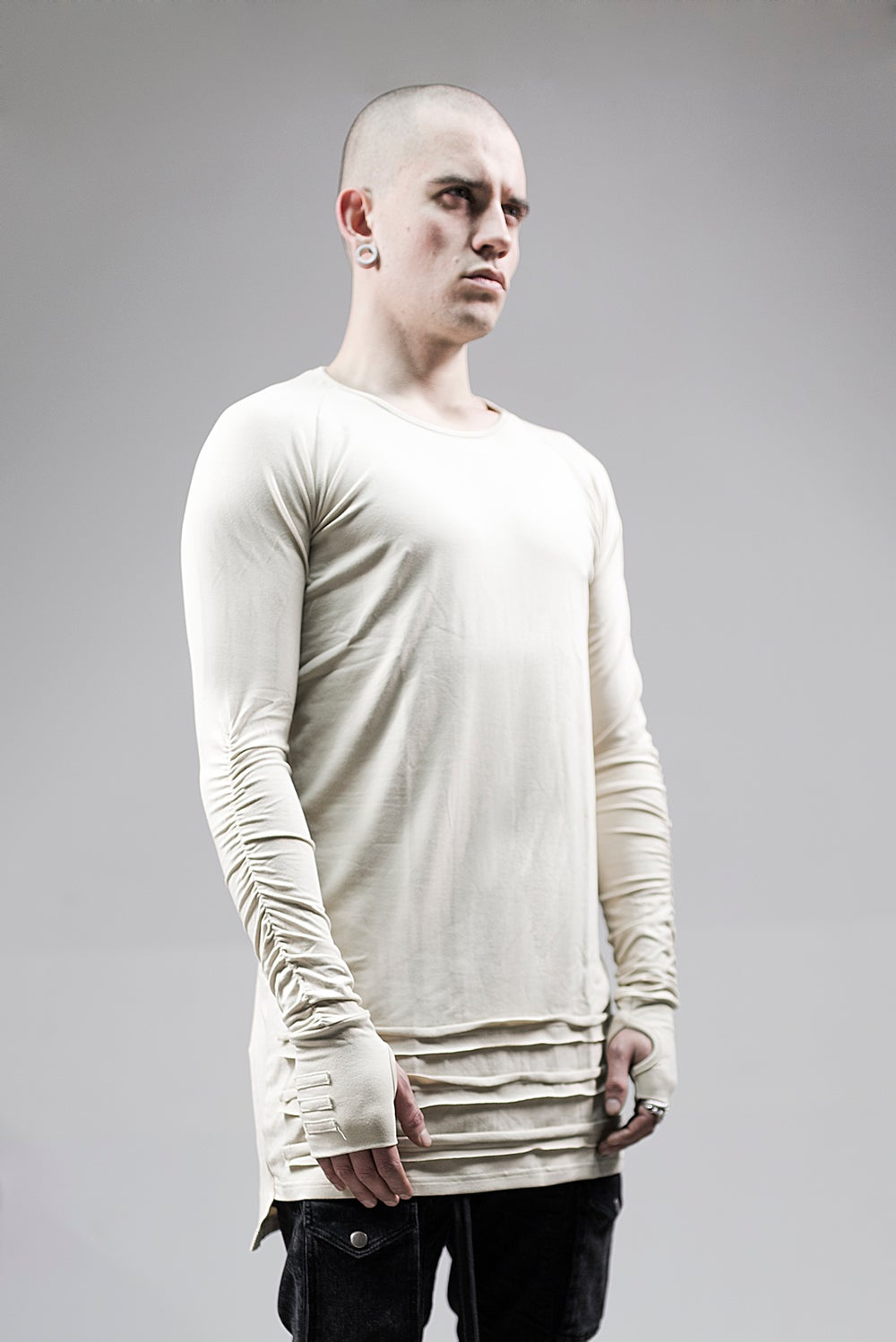 Image of Urban Flavours Mental Extended Long Sleeve Beige
