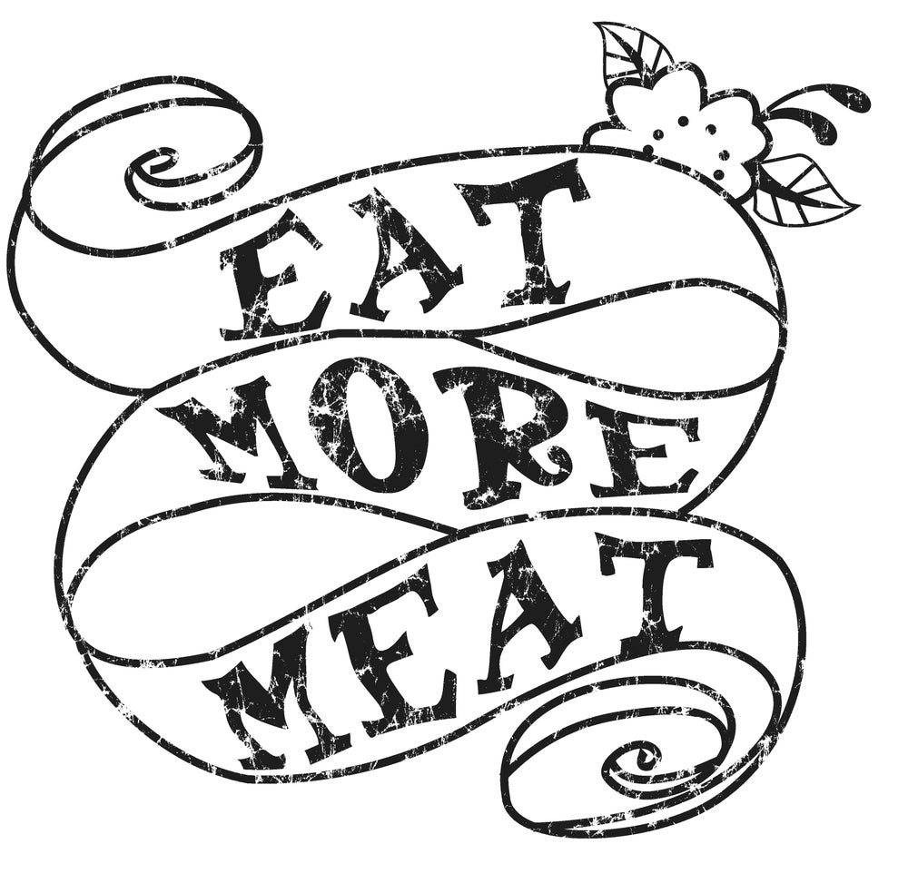 Image of Eat More Meat - Women's Cut T-Shirts - Plum or Heather Gray