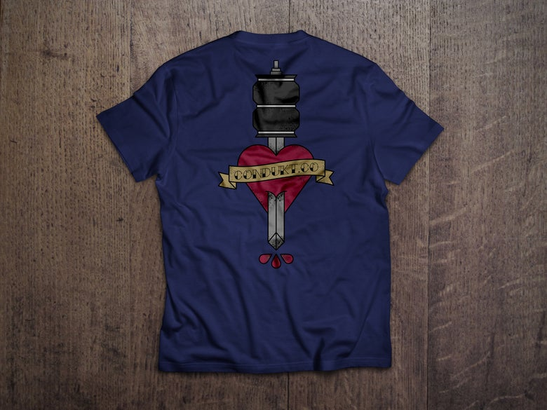 Image of Air Strut Dagger Pocket Tee - Navy ***PRE ORDER***