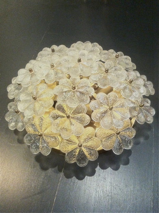 Image of Flower Wall Light or Flush Mount by Palme, Germany 1960s