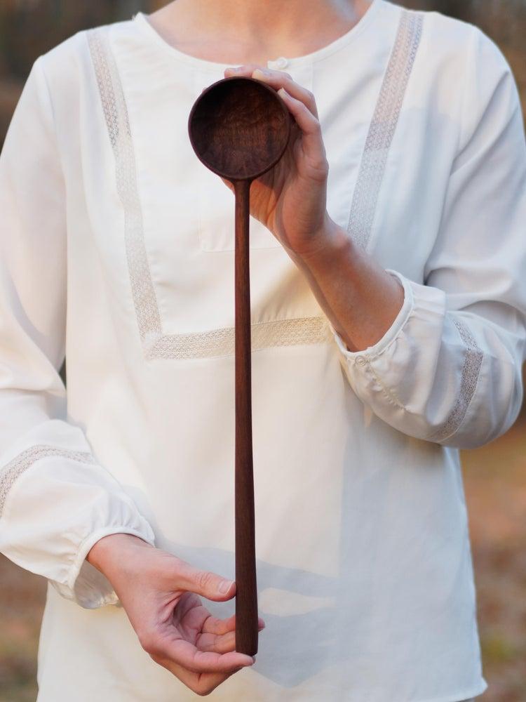 Image of Elam Serving Spoon - Walnut