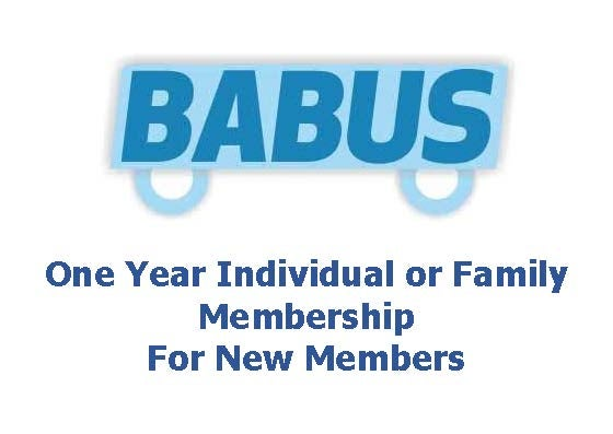 Image of New BABUS Membership - Family or Individual - for one year to 31st March 2017