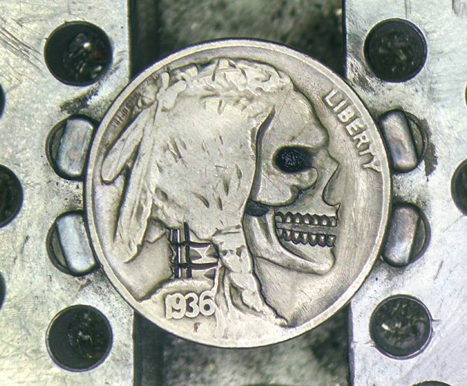 Image of Open Jaw Skull Buffalo Nickel