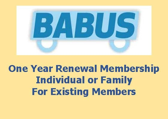 Image of Renewal BABUS Membership - Family or Individual - for one year to 31st March 2017