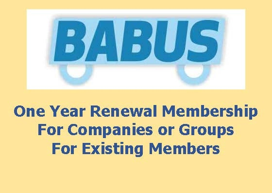 Image of Renewal BABUS Membership - Companies or Groups - for one year to 31st March 2017