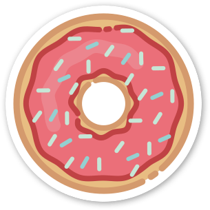 Image of 2 x Donut Stickers