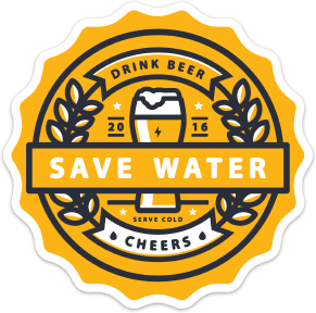 Image of 2x Save Water Stickers