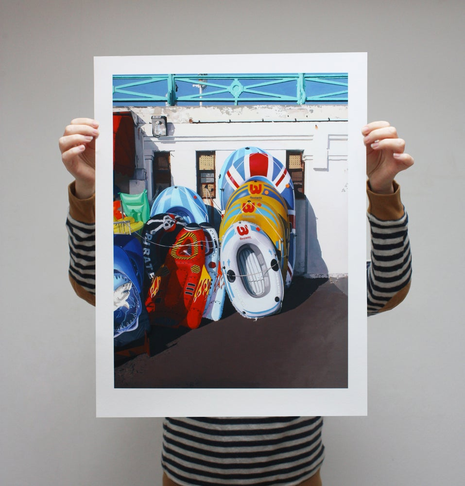 Image of 'Dinghies II' - Limited Edition Print - 61cm x 46cm
