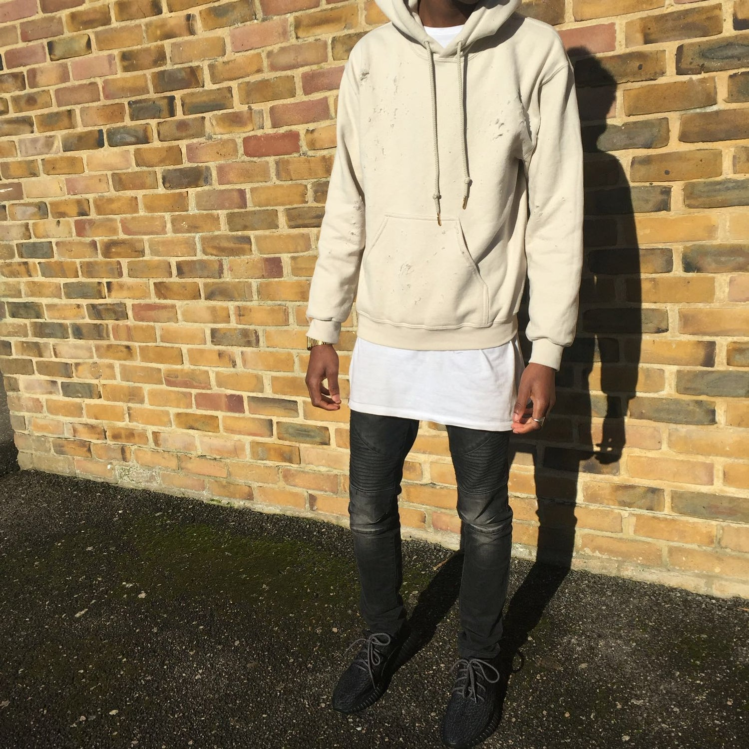 Image of CAMEL // DISTRESSED PULLOVER HOODIE