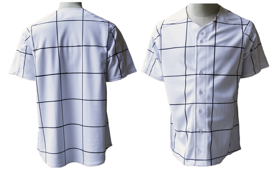 Image of Unisex Windowpane Baseball Jersey