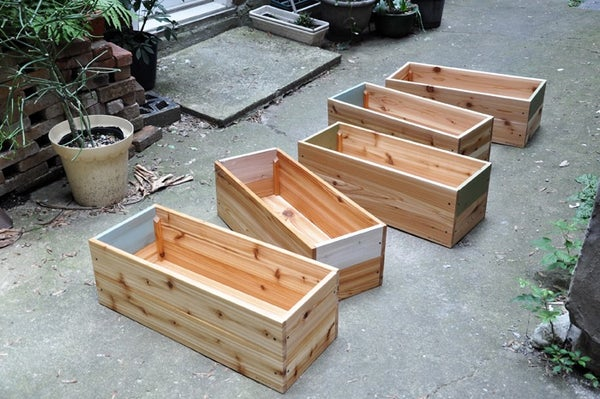 Image of Large cedar planters