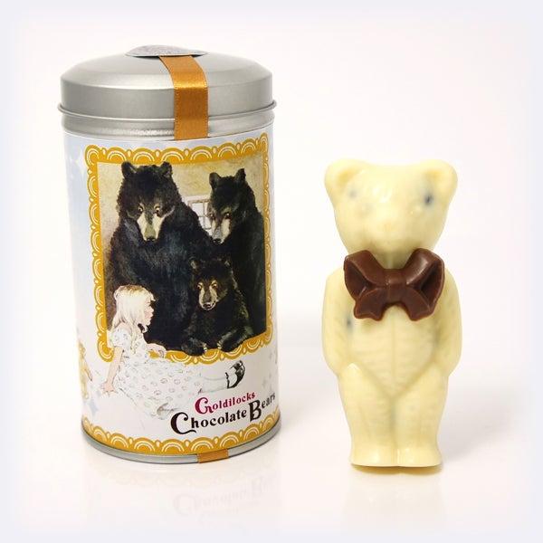 Image of Goldilocks Chocolate Bears 'White Chocolate & Raisins