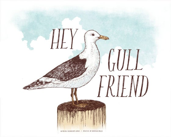 Image of Hey Gull Friend / 8x10 Color Print