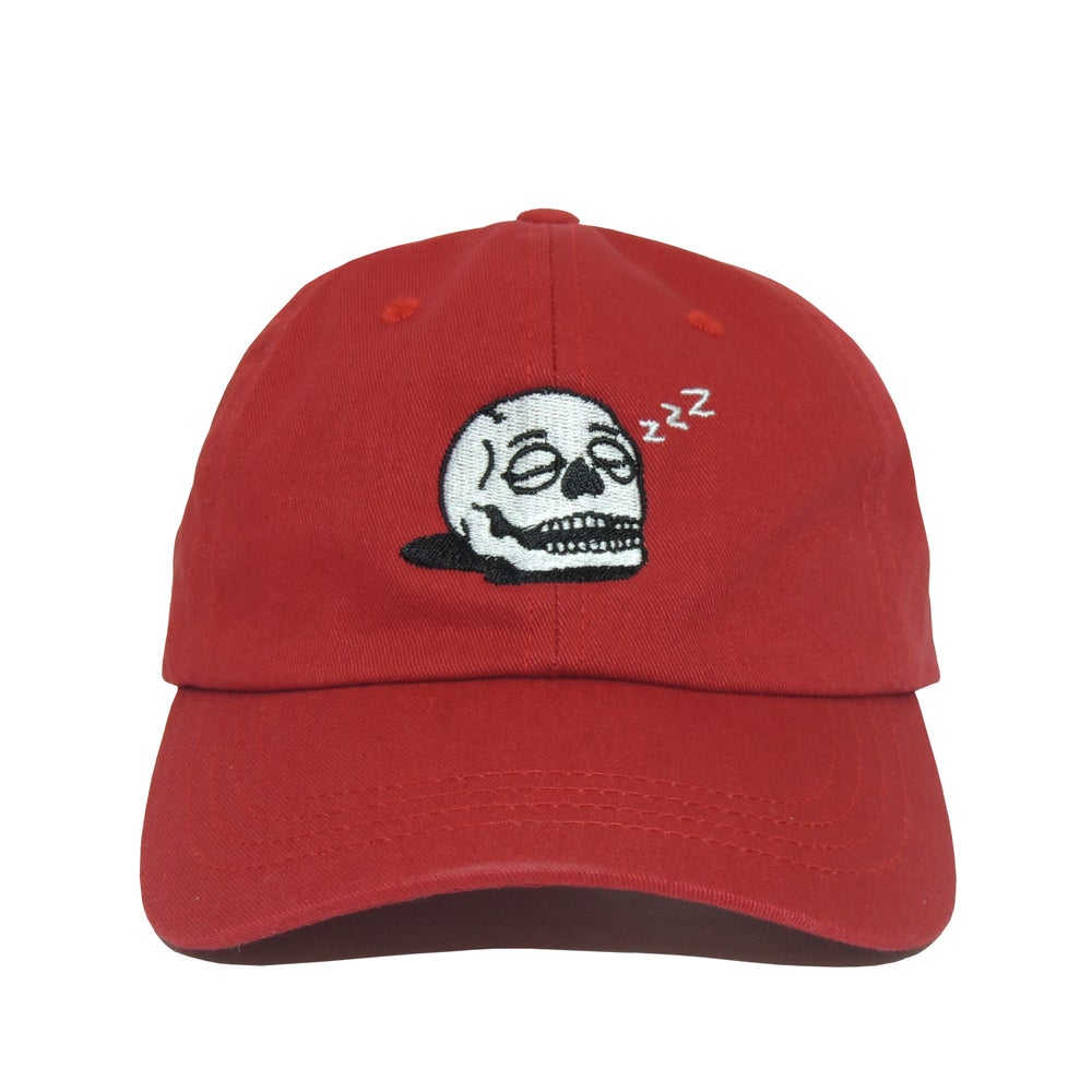 Image of Sleeping Skull Cap - Cranberry Red