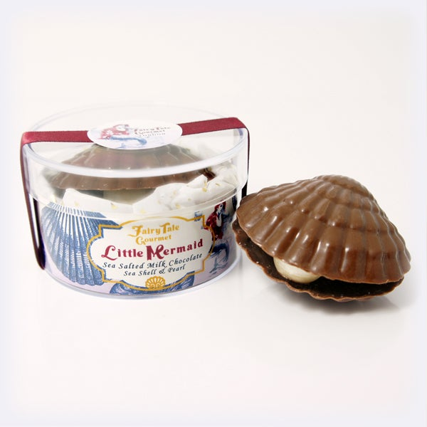 Image of Little Mermaid 'Sea Salted Milk Chocolate Seashell & Pearl'