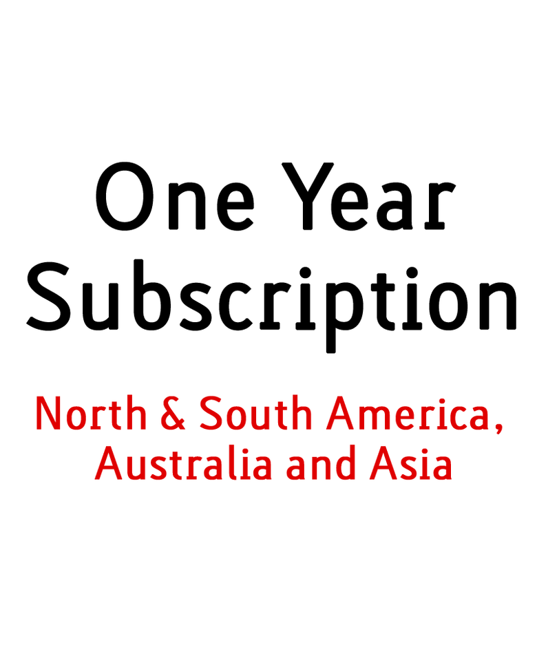 Image of 1 Year Print Subscription - Outside Europe