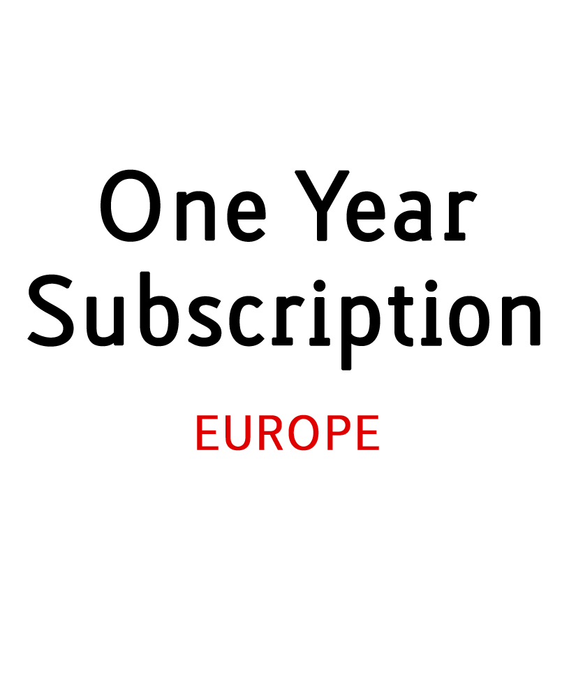 Image of 1 Year Print Subscription -  Europe