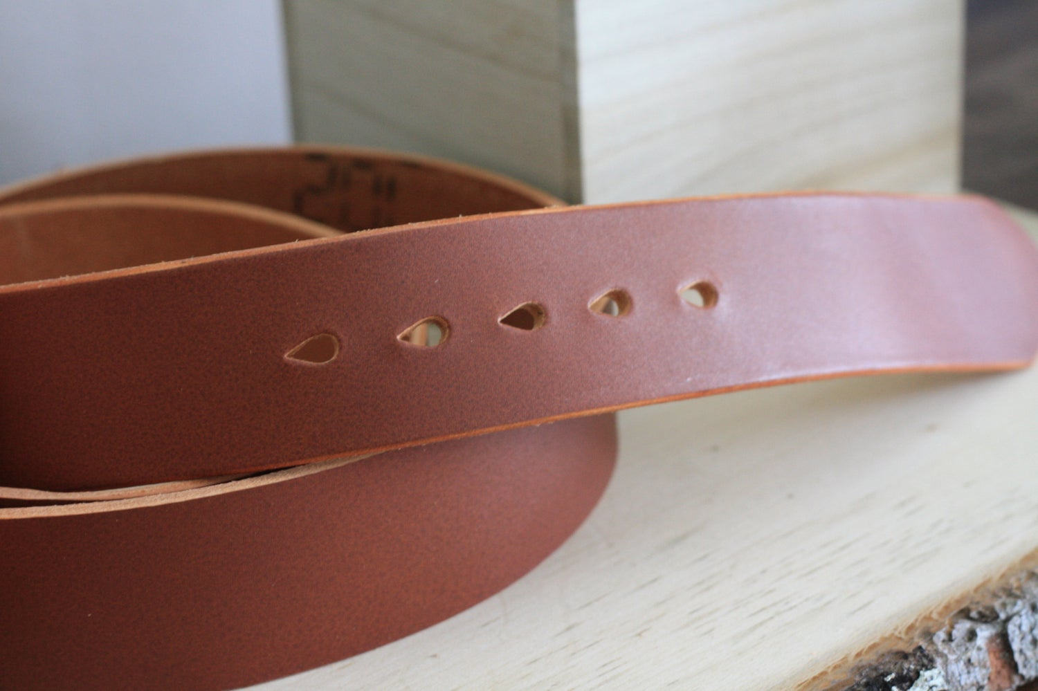 Image of Made-to-Measure Bridle Leather Belt