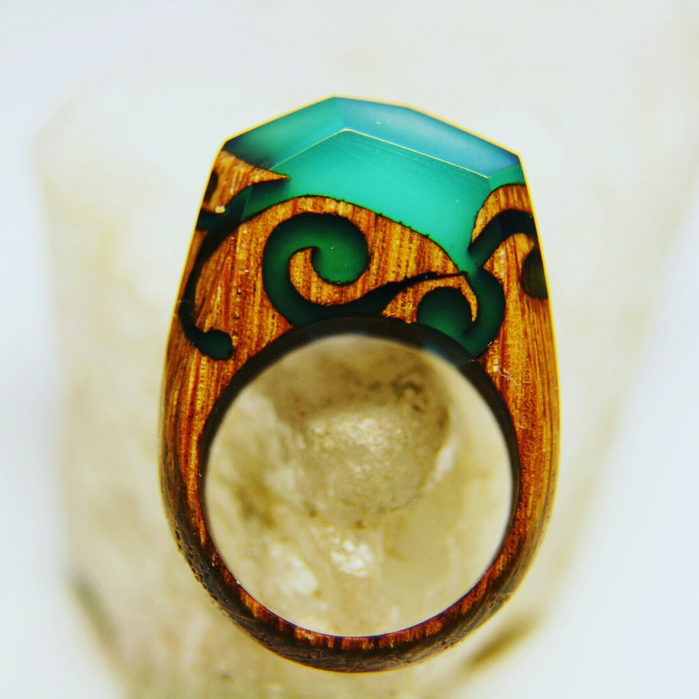 women men mystery secret inside for magical aeproduct wood forest getsubject handmade orange finger rings item