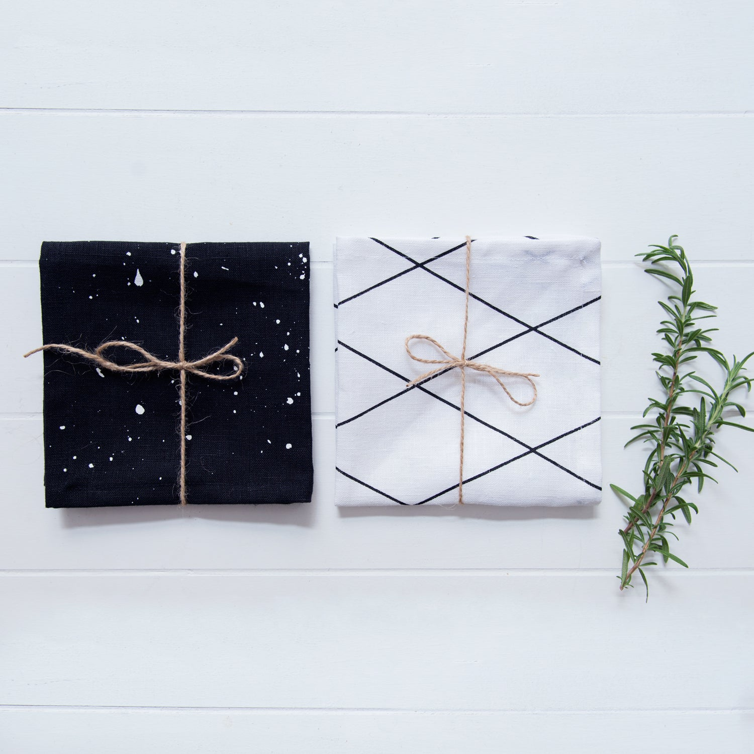 Image of Monochrome Linen Napkin Collection