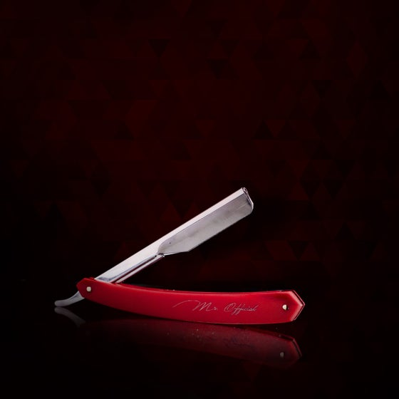 "Image of Mr. Official Signature Line Razor Blade Holder ""Red"""