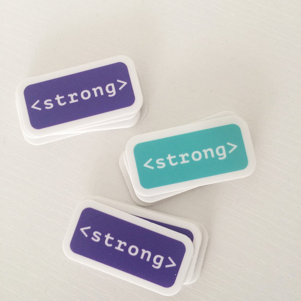 Image of Strong Tag Sticker Packs