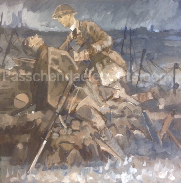 Image of 'Greater love hath no man....' an Army Padre at Passchendaele 1917