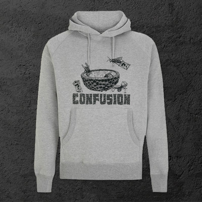 Image of Confusion - Bee DIY Hoody [heather grey]
