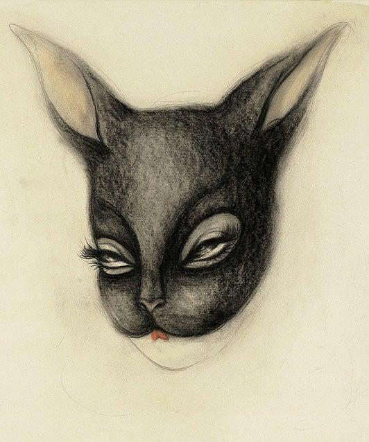 "Image of Miss Van ""Brown Bunny"" framed giclée Print"