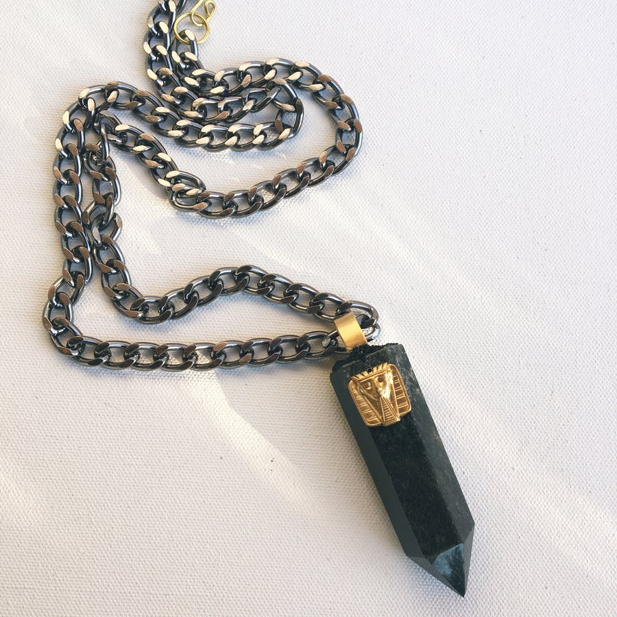 Image of TRIBE QUEST Obsidian Men's Necklace