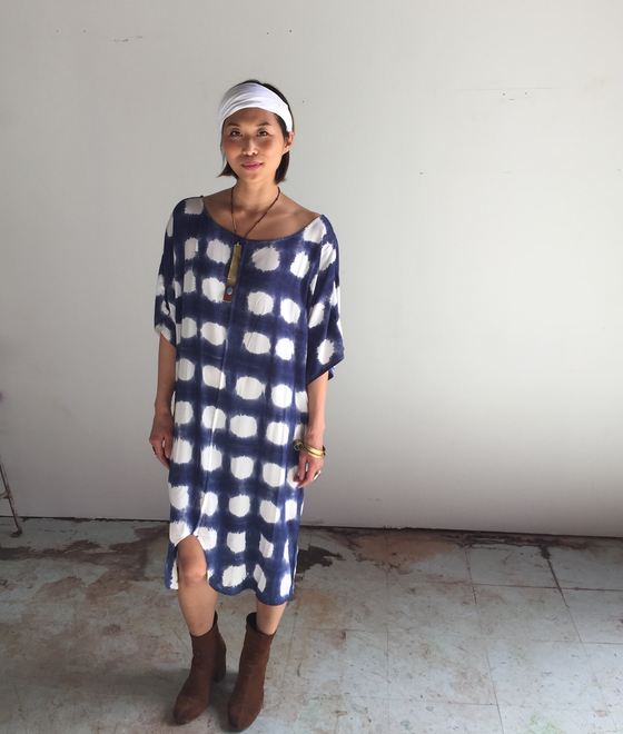 Image of The Odells Tie Dye Kimono Dress