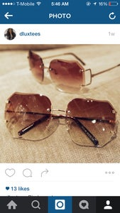 Image of sweet rimless frames
