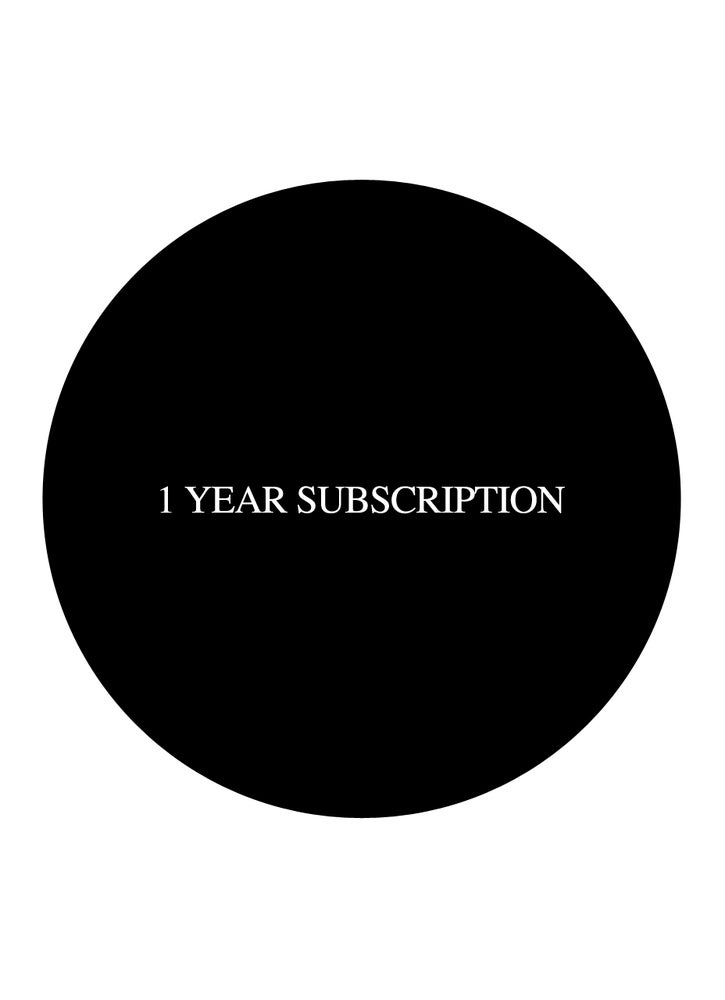 Image of 1 YEAR SUBSCRIPTION