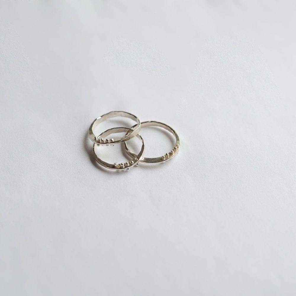 Image of Silver Petite Bit Ring