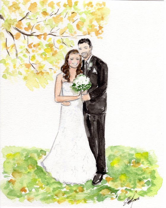 Image of Custom Wedding Illustrations