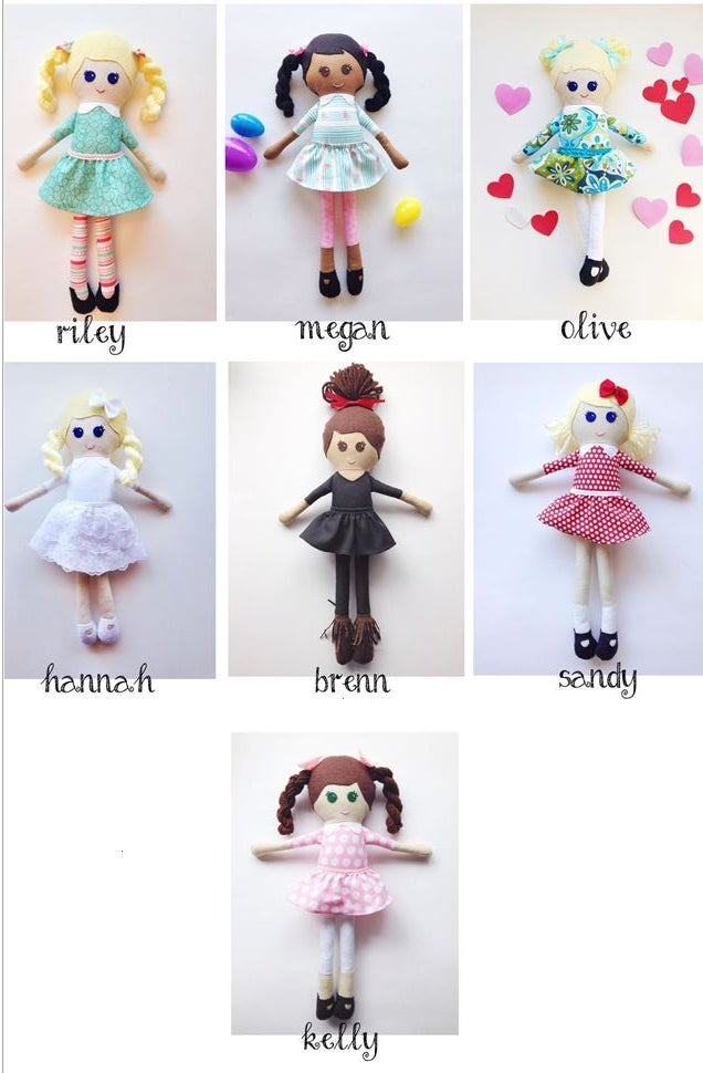 Image of Girl Dolls with Dresses