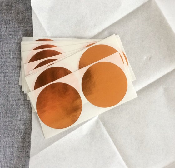 Image of Large Spot Copper Stickers Pack of 10