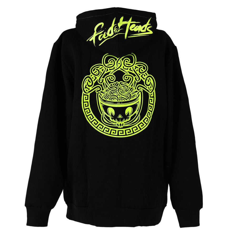 Image of Glow in the dark Medusa Head Zip Up Hoodie (Black)