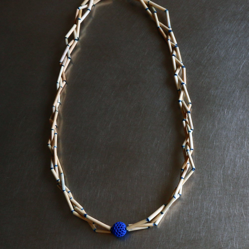 Image of 3D printed necklace Delft blue