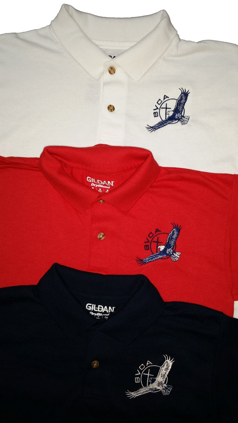 Image of Embroidered Polo - Short Sleeve- Youth and Adult sizes