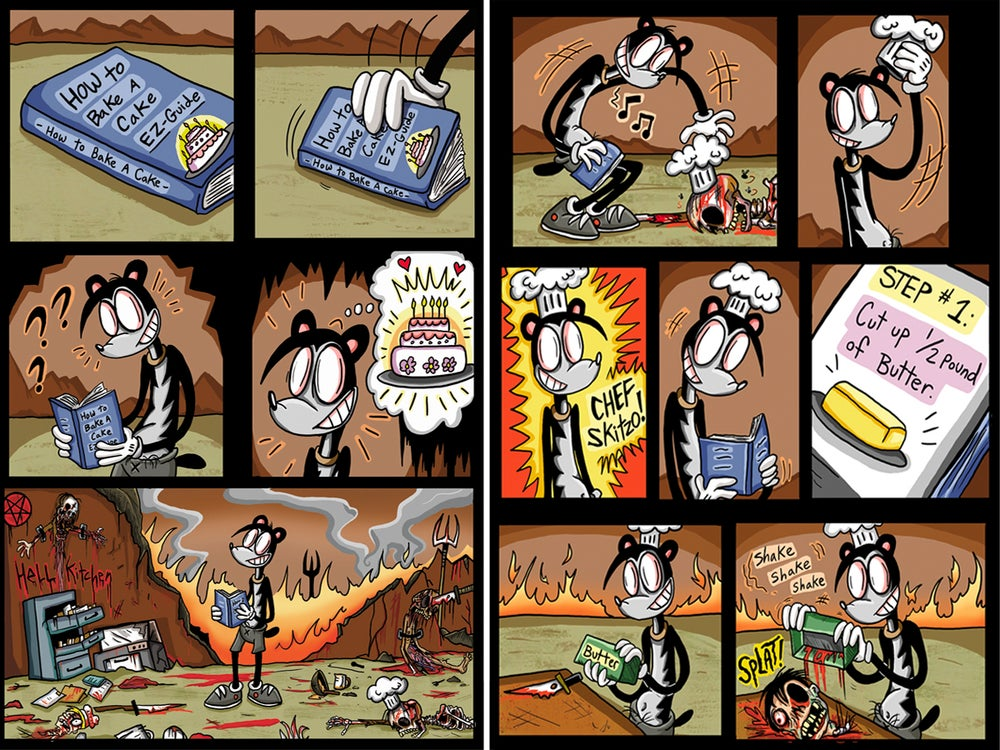 "Image of ""Skitzo Bakes a Cake""-Digital Comic Book"