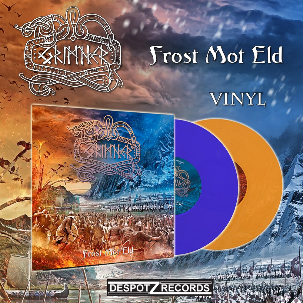 Image of Grimner - Frost Mot Eld (Orange/Blue Vinyl)